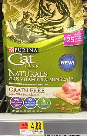 New Purina Cat Chow Dry Cat Food Coupon Walmart Deal